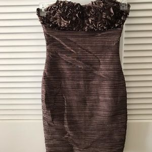 Textured bodycon cocktail dress